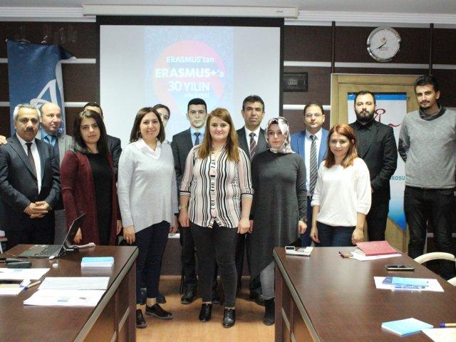 Ahiler Kalkınma Ajansı Öncülüğünde, Nevşehir Ticaret Borsası Desteği ile Erasmus+Proğramının 30. Yıl Etkinlikleri Kapsamında Temel Proje Döngüsü Yönetimi (PCM) Eğitimi.Tamamlandı
