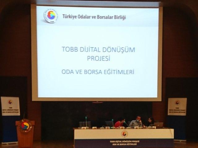 """NTB, TOBB'nin Düzenlediği """" Dijital Dönüşüm Projesi """" Eğitimine katıldı."""