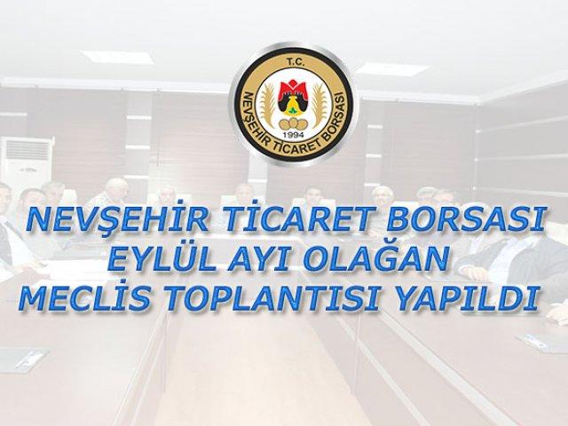 NTB Eylül Ayı Olağan Meclis Toplantısı Yapıldı.