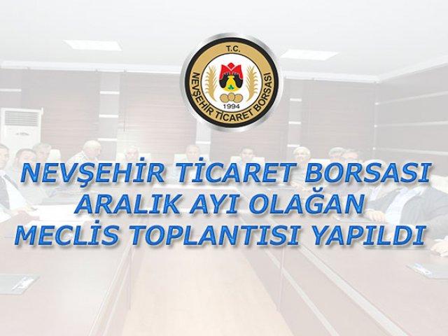 NTB Aralık ayı Olağan Meclis Toplantısı Yapıldı