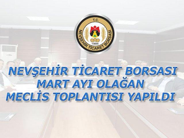 NTB Mart Ayı Olağan Meclis Toplantısı Yapıldı