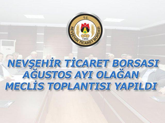 NTB Ağustos Ayı Olağan Meclis Toplantısı Yapıldı