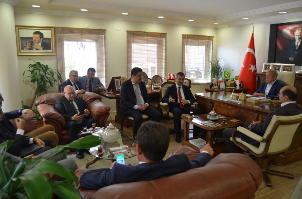 KOSGEB President President Nevsehir Commodity Exchange Visits from Biçer War