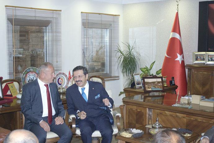 T.O.B.B. PRESIDENT VISITED OUR STOCK EXCHANGE Rifat Hisarcıklıoğlu