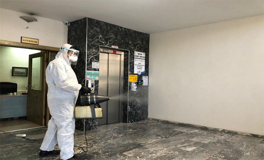 Nevşehir Ticaret Borsası baştan aşağı dezenfekte edildi