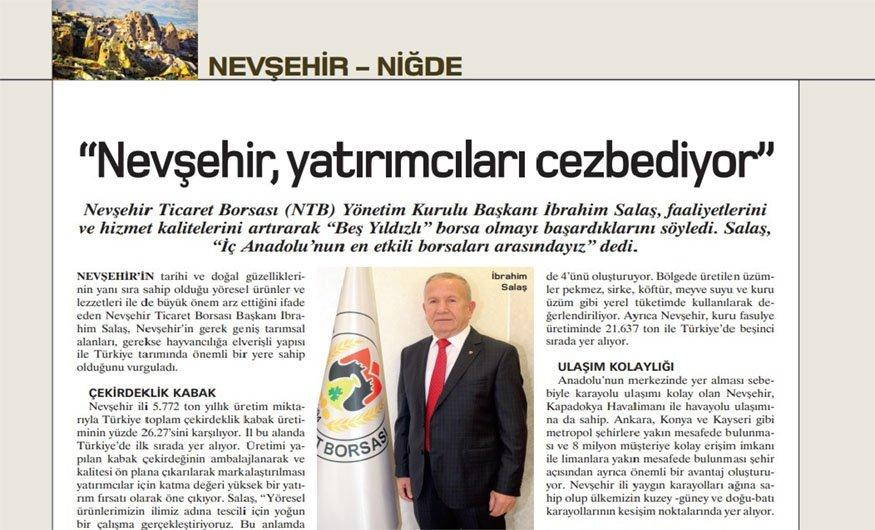 Başkan Salaş, Para Dergisine Röportaj Verdi