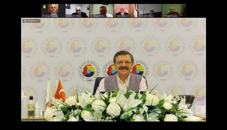 Hisarcıklıoğlu Oda ve Borsa Genel Sekreterleri ile görüştü