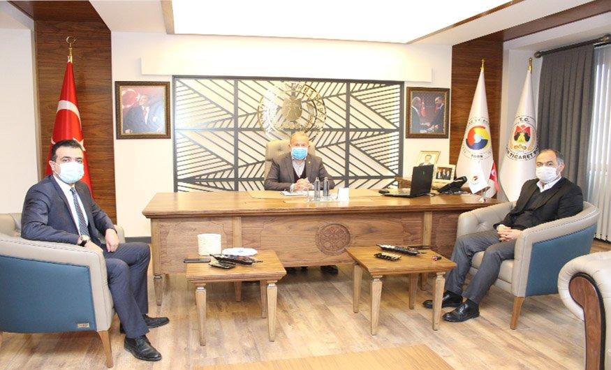 İl Müdürleri Yılmaz ile Solmaz'dan Başkan Salaş'a Ziyaret