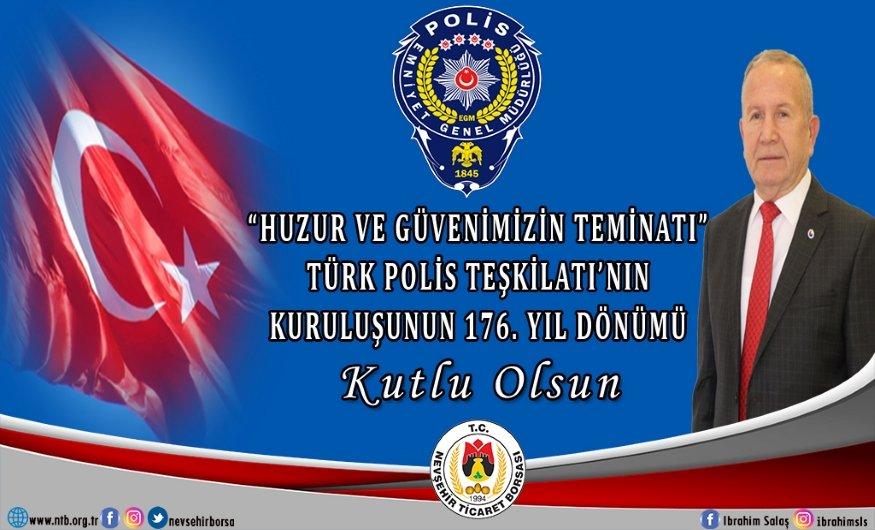 Başkan Salaş'tan Türk Polis Teşkilatı'nın 176.Yılı Mesajı