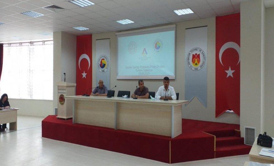 Mesleki İş Birliği Protokolü Proje Okulları tanıtım toplantısı yapıldı