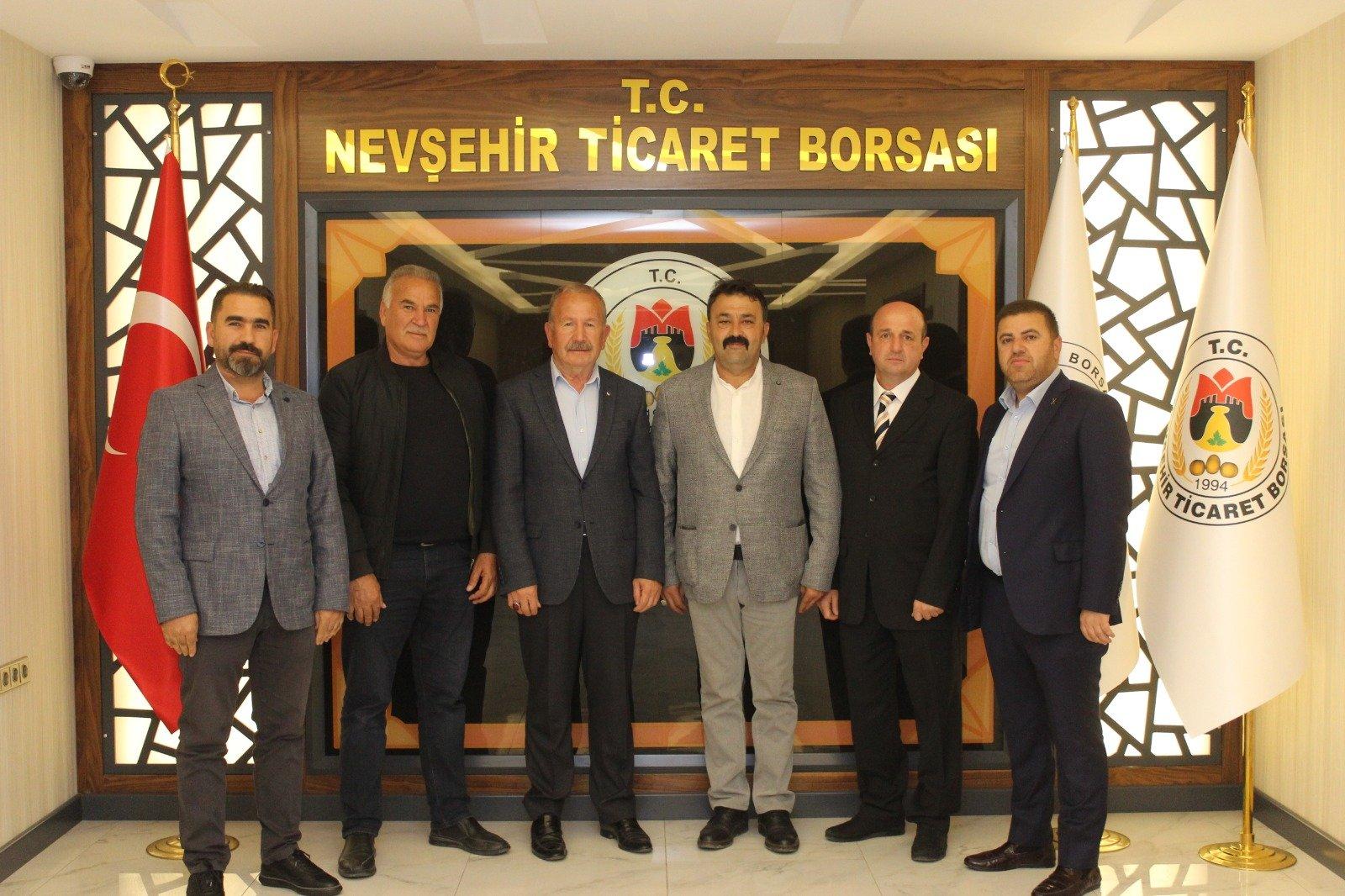 PÜSİAD Yönetiminden Nevşehir Ticaret Borsasına Ziyaret