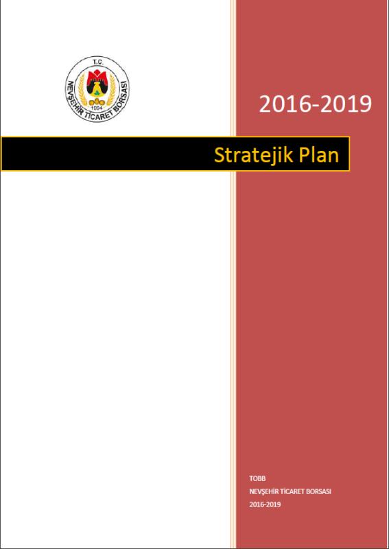 STRATEJİK PLAN 2016-2019